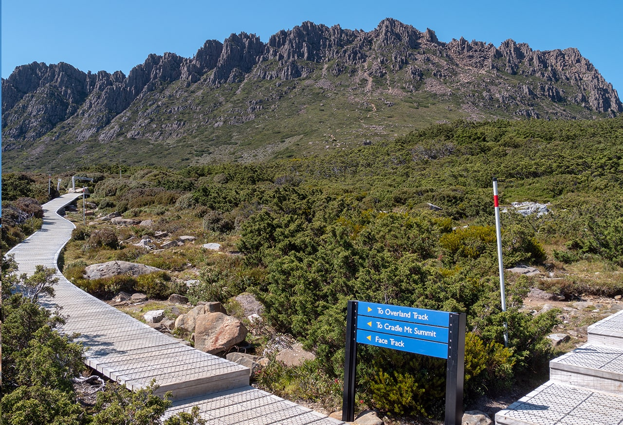 L'ascension de Cradle Mountain en 7h<br><br> 14